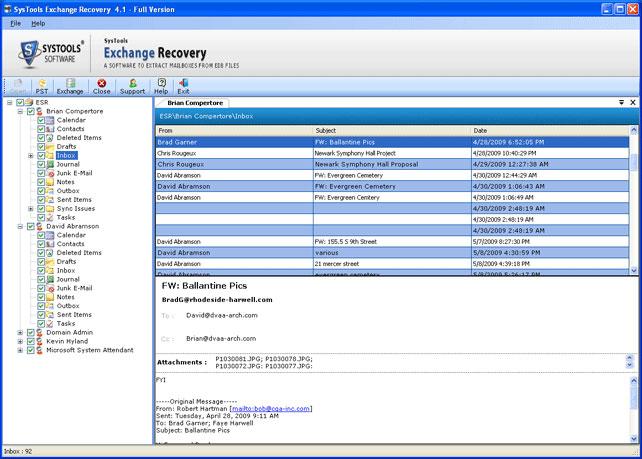 Exchange 2003 Restore Mailbox to PST